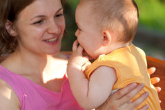 Mother loves her baby Royalty Free Stock Photography