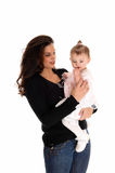 Mother loving her little baby. Royalty Free Stock Image