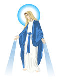 Mother mary. Blessed Virgin Mary - Vector illustration drawing Stock Image