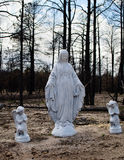 Mother Mary and 2 Angels in Black Forest, Colorado Stock Photography