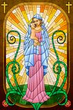 Mother Mary with Jesus Christ royalty free illustration