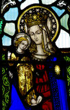 Mother Mary with Jesus in her arms Stock Photos