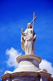 Mother Mary. Keeping watch in cemetery in New Orleans Royalty Free Stock Photos