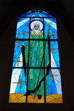 Mother Mary Stained Glass Window Royalty Free Stock Photo
