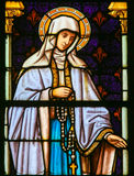 Mother Mary - Stained Glass Stock Image