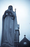 Mother Mary statue. A statue of mother Mary right in front of the famous notre dame cathedral in Ho Chi Minh city, Vietnam Stock Photos