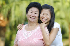 Mother and me Stock Photo