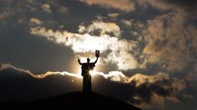 Mother Motherland, Cherkassy, Ukraine. The Silhouette of Mother Motherland, Cherkassy, Ukraine Stock Image