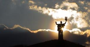 Mother Motherland, Cherkassy, Ukraine. The Silhouette of Mother Motherland, Cherkassy, Ukraine Royalty Free Stock Photography