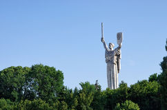 Mother Motherland monument in Kiev front view Stock Image