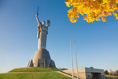 Mother Motherland monument in Kiev, Ukraine Stock Photos