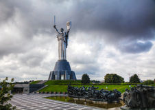 Mother of the Motherland monument in Kiev, Ukraine Royalty Free Stock Images
