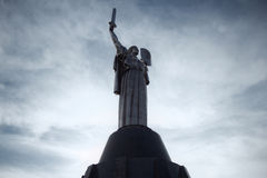 Mother Of The Motherland Monument In Kiev, Ukraine. Sword symbol victory war Stock Photo