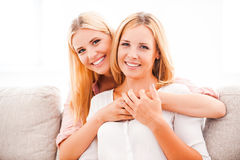 Mother is my best friend. Stock Photography