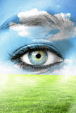Mother nature concept - Ecology background Stock Image