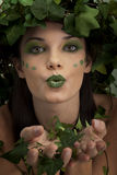 Mother nature sending kiss Royalty Free Stock Image