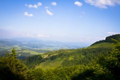 Mother nature of the western region of Ukraine. Viewpoint of Carpathian nature Stock Photos