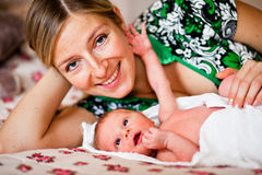 Mother with newborn Royalty Free Stock Image