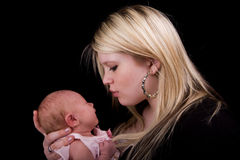 Mother with newborn Stock Photos