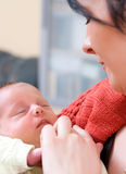 Mother with newborn baby royalty free stock image