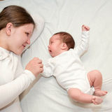 Mother with newborn baby Royalty Free Stock Images