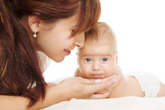 Mother with newborn baby Stock Photos