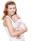 Mother and newborn baby stock images