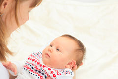 Mother with newborn daughter Royalty Free Stock Photo