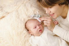 Mother and newborn daughter Royalty Free Stock Image