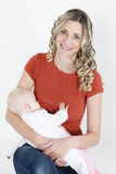 Mother nursing her baby Stock Photography