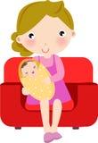 Mother och behandla som ett barn Arkivfoton