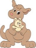 Mother och behandla som ett barn kängurur Arkivbilder