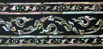 Mother Of Pearl Inlay Thai Floral Art Royalty Free Stock Photo