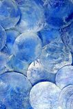Mother of pearl blue round circle pattern Stock Photography