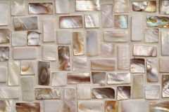 Mother of pearl mosaic tiles Stock Images
