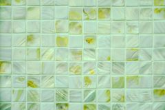 Mother of pearl tiles. Closeup photo of Mother of pearl mosaic tiles. stock photos