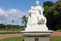 The `Mother Philippines` statue at the Rizal Park Royalty Free Stock Photo