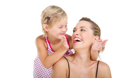 Mother play with daughter Stock Photos