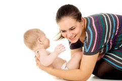 Mother is played with a child Stock Photography