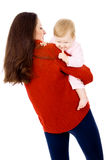 Mother is played with a little baby, a happy family Royalty Free Stock Photography