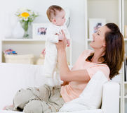 Mother playing with baby Royalty Free Stock Photography
