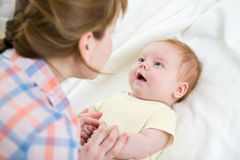 Mother playing with baby infant Royalty Free Stock Photo