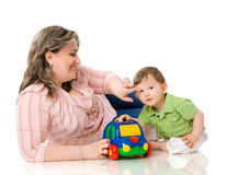 Mother playing with child Stock Image