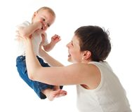 Mother playing with child Stock Photos