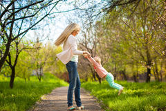 Mother playing with child Royalty Free Stock Photography