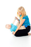 Mother playing with her baby Royalty Free Stock Photos