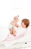 Mother playing with her baby son Royalty Free Stock Photo