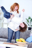 Mother playing with her daughter Royalty Free Stock Image