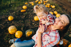 Mother playing with her daughter Royalty Free Stock Photo