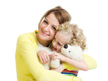 Mother playing with kid girl Stock Image